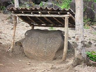 Ometepe - Petroglyph on Ometepe at base of Maderas