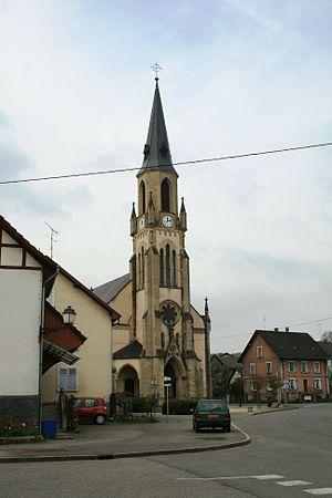 Pfetterhouse - The church of Pfetterhouse