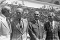 Photograph of President Gerald Ford with Astronauts Vance Brand, Thomas Stafford, and Donald Slayton - NARA - 7347190.jpg