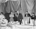 Photograph of President Truman receiving applause at the annual Jefferson-Jackson Day dinner at the National Guard... - NARA - 200380.tif