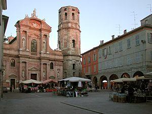 Prosper of Reggio - Piazza San Prospero, Reggio Emilia, with patron saint's basilica.