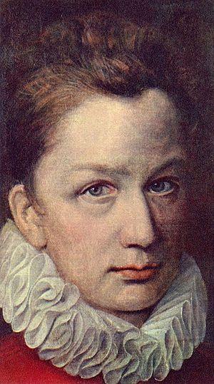 Pierre Dumonstier I - Portrait of a man by Pierre Dumonstier I (c. 1575, Hermitage Museum).