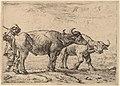 Pieter van Laer, Two Buffaloes and a Herdsman, NGA 60674.jpg