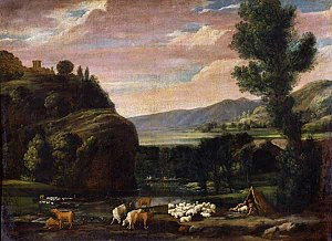 Pietro Paolo Bonzi - Landscape with Shepherds and Sheep, Museo Capitolino