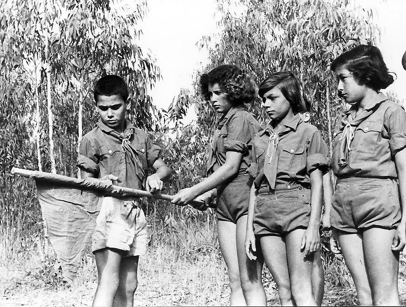 גן-שמואל-ילדים במחנה השוה'צ 1955