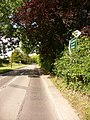 Pimperne, signpost on the A354 - geograph.org.uk - 1375025.jpg