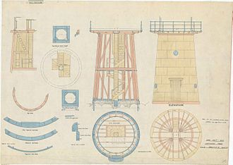 Pine Islet Light - Plans of the lighthouse, drawn 1915