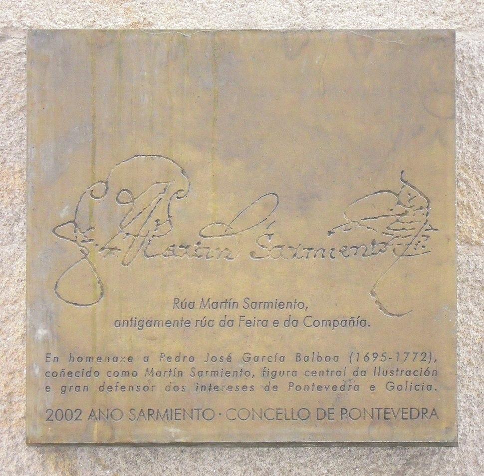 Placa Sarmiento Pontevedra