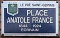 Plaque Place Anatole France - Le Pré-Saint-Gervais (FR93) - 2021-04-28 - 1.jpg