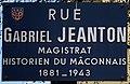 Plaque Rue Gabriel Jeanton - Mâcon (FR71) - 2020-12-22 - 1.jpg