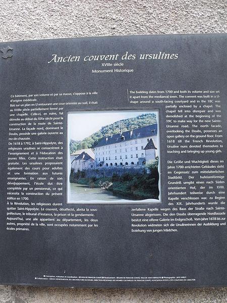 Couvent des ursulines, Saint-Hyppolite, Doubs, France