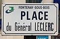 Plaque place Général Leclerc Fontenay Bois 1.jpg