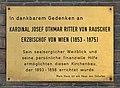Plaque to Cardinal Rauscher, Rudolfsheimer Pfarrkirche.jpg