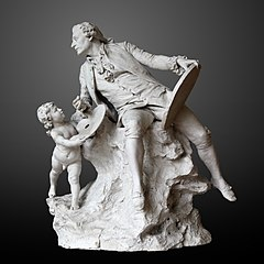 Plaster of Hommage to Boucher by Jean-Paul Aube