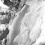 Plateau Glacier, tidewater glacier terminus, glacial remnents, and glacial flour, August 22, 1965 (GLACIERS 5774).jpg