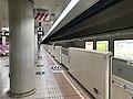 Platform of Nakasu-Kawabata Station (Hakozaki Line) 3.jpg