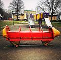 Playground rocket in Trowbridge Park, Trowbridge, England.jpg