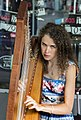 Playing Harp in Brisbane Queens St Mall-2 (25223512820).jpg