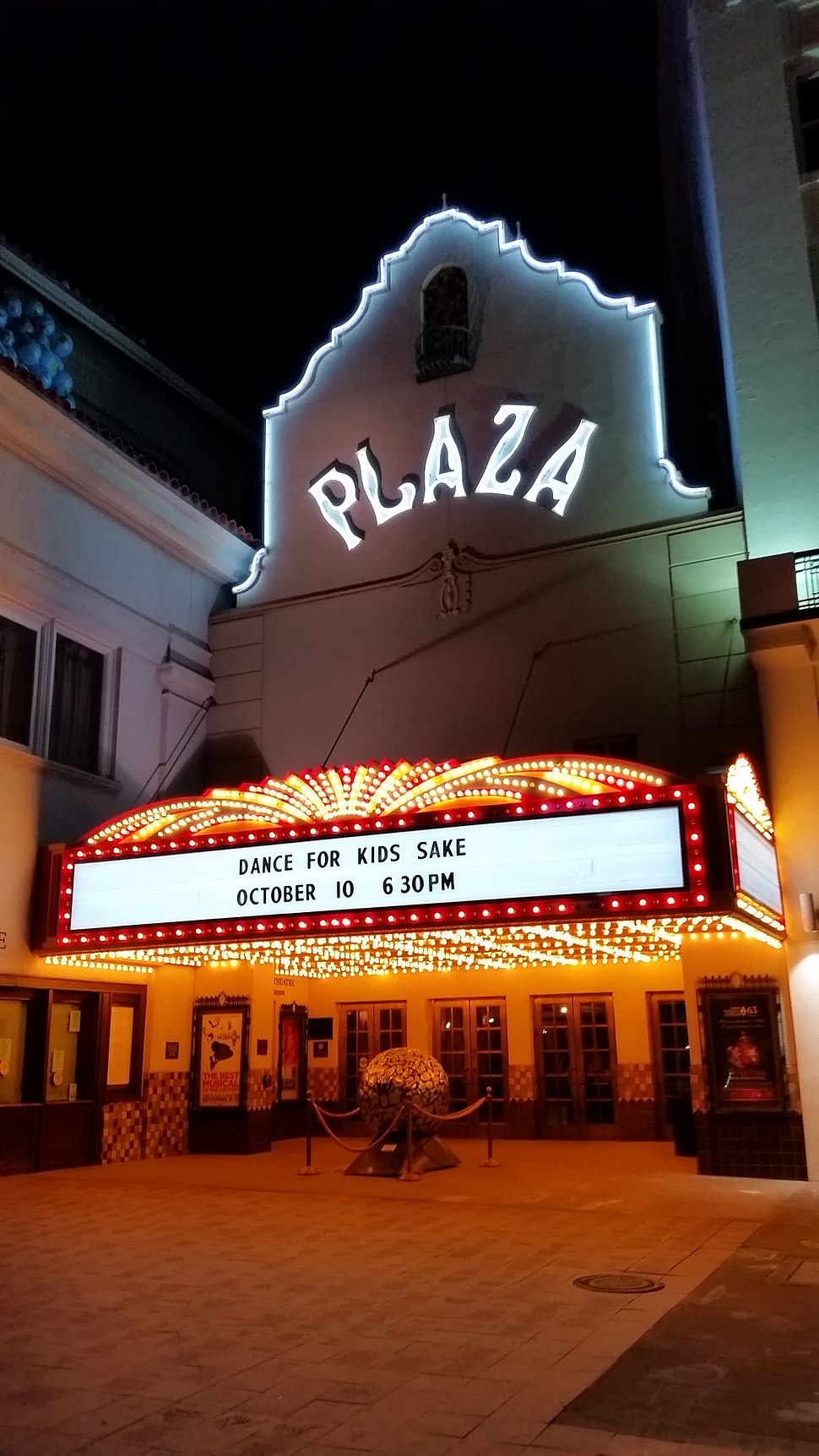 Plaza Theater at Night