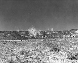 Underground nuclear weapons testing - Dust raised by Plumbbob Rainier