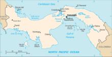 Mapa  República do Panamá