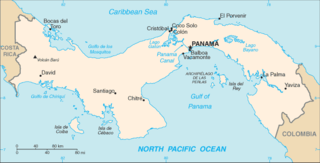 Isthmus of Panama Narrow landstrip in Panama