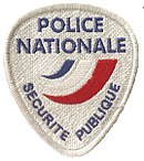 Patch de la police nationale
