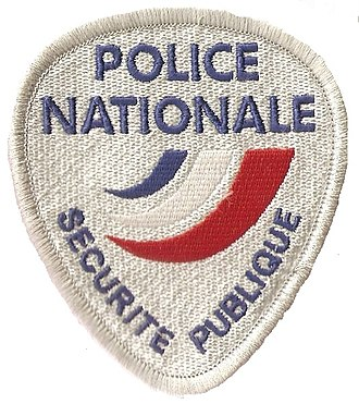 National Police (France) - Image: Police nationale France police patch blanc