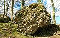 Polnoon Castle - south facing -masonry block.JPG