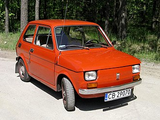 Automotive industry in Poland - Polski Fiat 126p, 1973, likely the most iconic car of Polish manufacture in the world