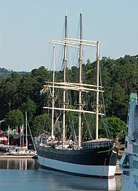Sailing ship Pommern in Mariehamn, 2005.