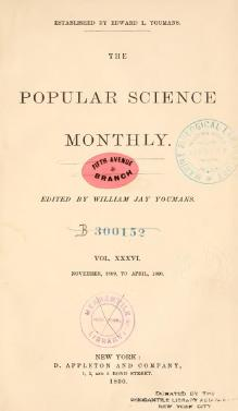 Popular Science Monthly Volume 36.djvu