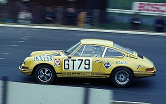 Group 4 (racing) -  A Porsche 911 competing in the Group 4 Special Grand Touring Car category at the 1970 1000 km Nürburgring