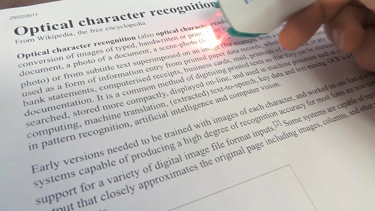 Optical character recognition - Wikipedia