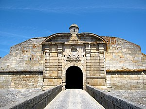 Castle Fortress of Almeida - The double gates of São Francisco along the walls of the star fort