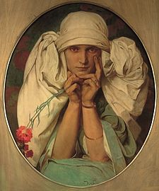 Portrait of Mucha's Daughter, Jaroslava - Alfons Mucha.jpg