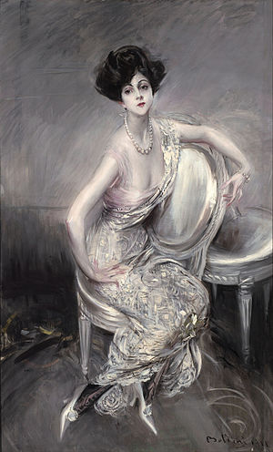 Callot Soeurs - Portrait of Rita de Acosta Lydig by Giovanni Boldini, 1911