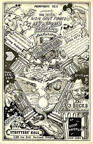 Bob Gardiner (animator) - Image: Poster Strutters' Hall January 1979
