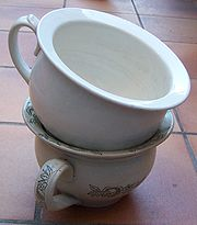 Stacked chamber pots