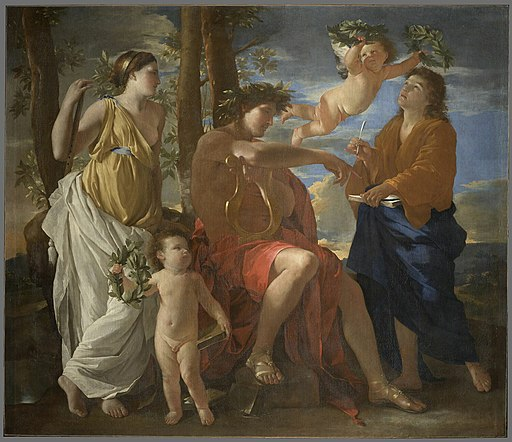 Poussin Inspiration of the poet Louvre