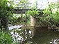 Préchacq-Josbaig (Pyr-Atl, Fr) le Lausset, pont d'une route forestière.JPG