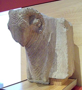 Protome - Iberian protome of a ram, from the 3rd or 2nd century BC.
