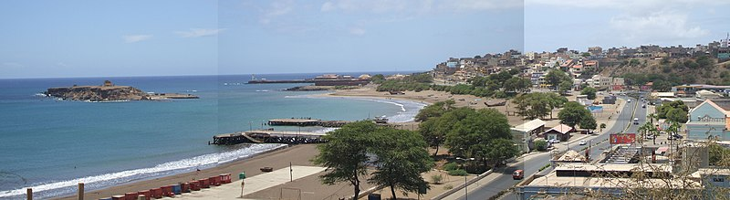 View over Gamboa from Plateau, in Praia, Cape Verde