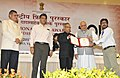 Pranab Mukherjee presenting the Certificate for Special Mention to Shri Sanjay Jangid, for Raah (Animation) in Non Feature Film Section, at the 60th National Film Awards function.jpg