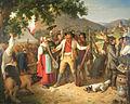 Preisschießen um ein fettes Schwein Peter Schwingen 1844.jpg