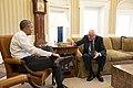 President Barack Obama meets with Senator Bernie Sanders in the Oval Office.jpg