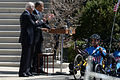 President Obama welcomes Wounded Warrior cyclists 150416-D-DB155-004.jpg