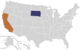Presidential Candidate Home State Locator Map, 1972 (United States of America).png
