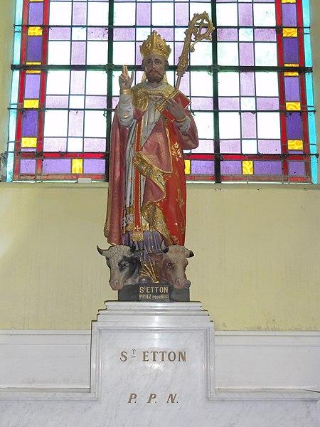 Prisches (Nord, Fr) Église Saint-Nicolas, statue st.Etton
