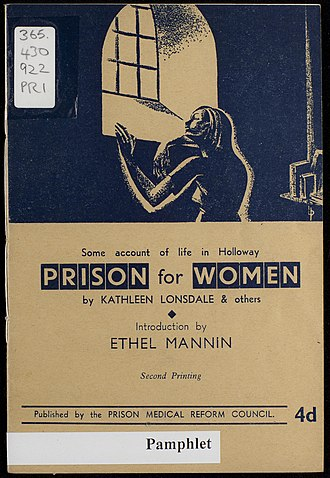 Kathleen Lonsdale - Pamphlet written by Kathleen Lonsdale on Prison Reform in 1943